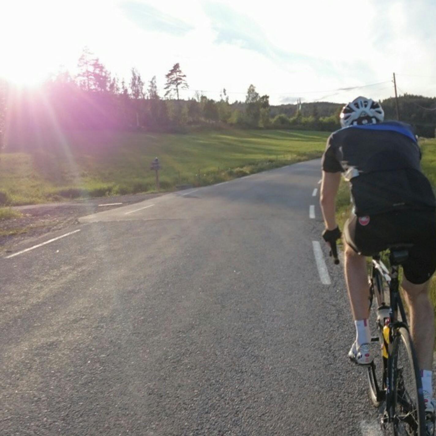 På sykkeltur i godværet