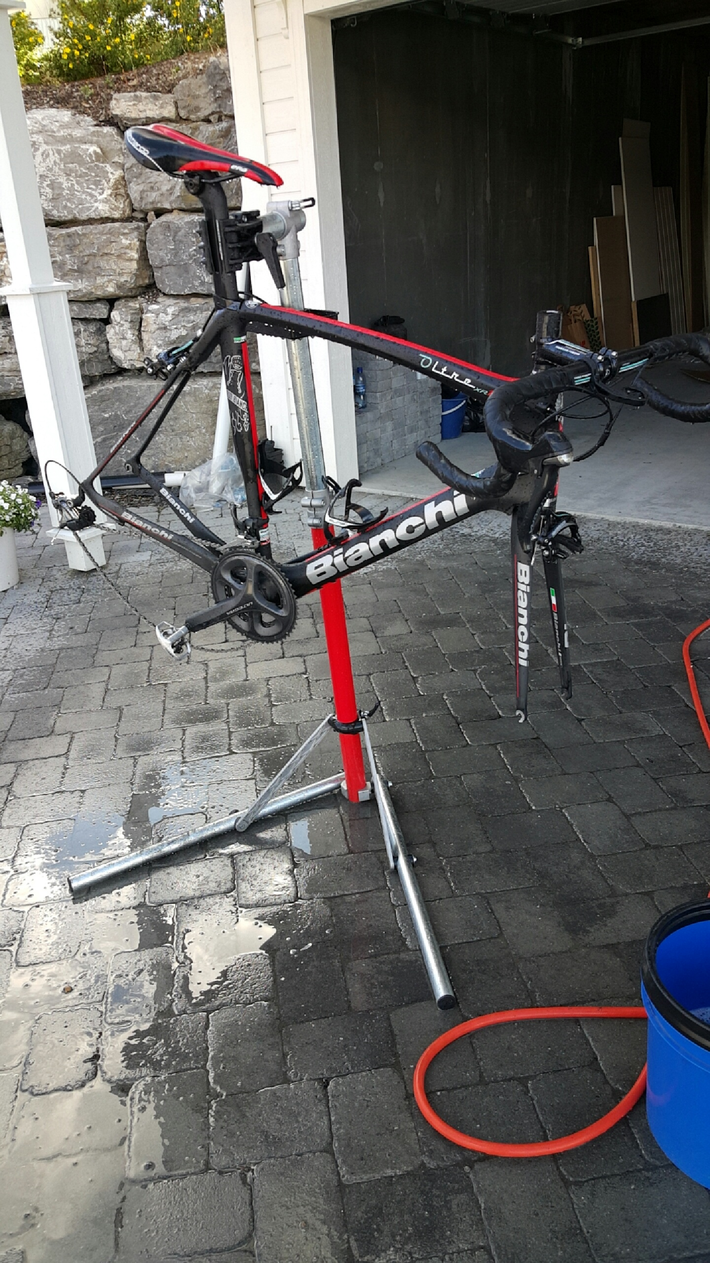 Sykkel mekkestativ