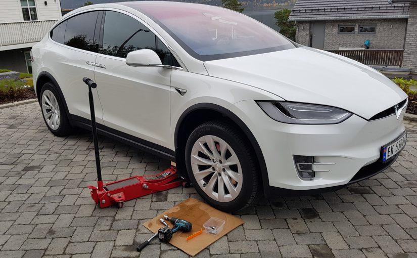 Hjulskift på Tesla